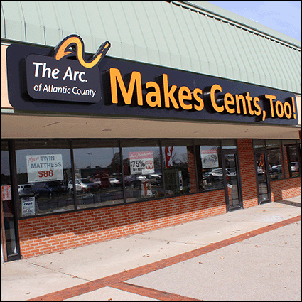 You can support The Arc at our thrift shops.